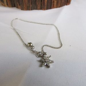 Sterling Silver Suzanne Somers CZ Anklet